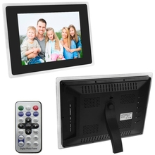 12.1 inch TFT LCD Display Multi-media Digital Picture Frame with Remote Control, Support SD / MMC / MS Card and USB(Black)