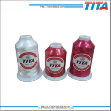 Polyester embroidery thread for TAJIMA machine 120D/2 bright color