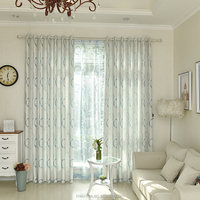 New arrival Modern circular design Jacquard Curtain New Fashionable Patterns For Kitchen Curtains Valances