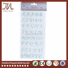 2017 Latest Diamond Letter Sticker Removable Alphabet Stickers