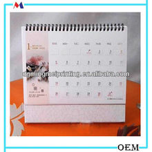 customize spiral calendars 2014/school supplie cheap paper calendar