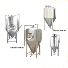 Dimple plate cooling jacket used stainless steel conical fermenter