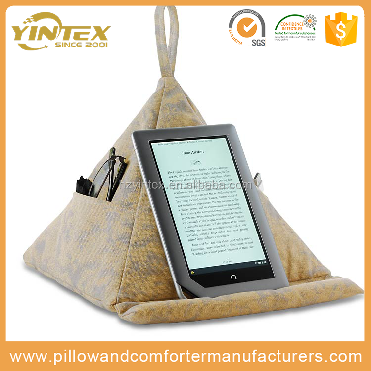 2017 new Pocket Accepted reading pillow ipad kindle phone tablet book rest cushion deep pocket reading pillow