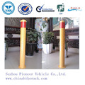 Hot Sale Red Reflective Tape Yellow Powder Coated Steel Bollard / Metal Road Bollard (ISO SGS TUV Approved)