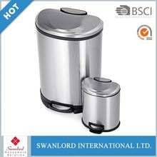 China good price decorative garbage stainless steel trash bin for car home