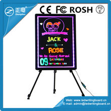 Lighted neon blackboard neon board signs erasable neon led message writing board
