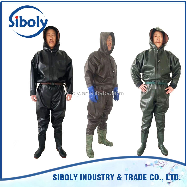 Hot Sale Custom made men waterproof pvc garage workwear overall