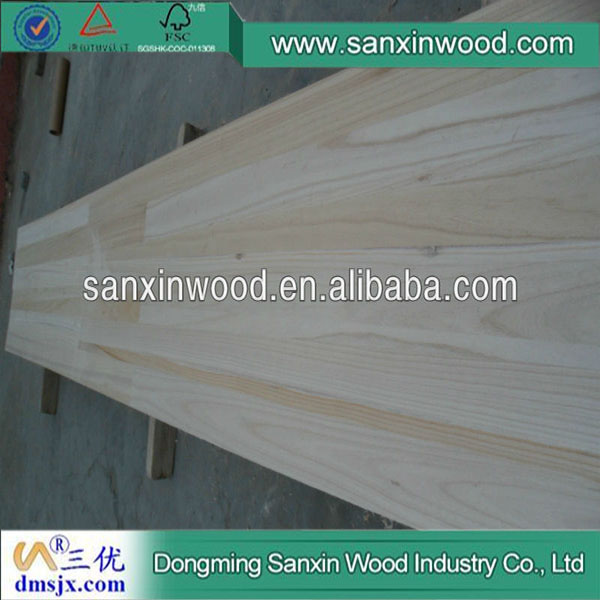 Paulownia Wood Sale Finger Joint Boards Lumber Used for Furniture and Decoration
