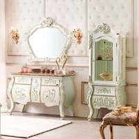 European Classical Style Bathroom Vanities Cabinet Set,Bathroom Mirror Cabinet Set,Bathroom Mirror Cabinet and Vanity(BF08-4465)