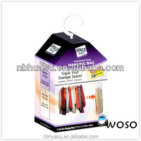 Coats hanging pump vacuum storage bags