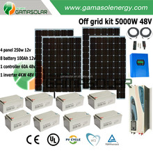 Renewable energy 5kw hybrid home power solar panel system with battery charger