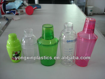 wholesale cocktail plastic ps clear shaker for bar