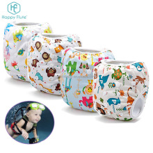 Happy flute baby swimsuit summer breathable mesh cloth diaper swimming diaper