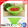 FDA, LFGB, SGS Certification Food Grade Kitchen Sink Foldable Silicone Basket Strainer Vegetable Silicone Drain Basket Strainer
