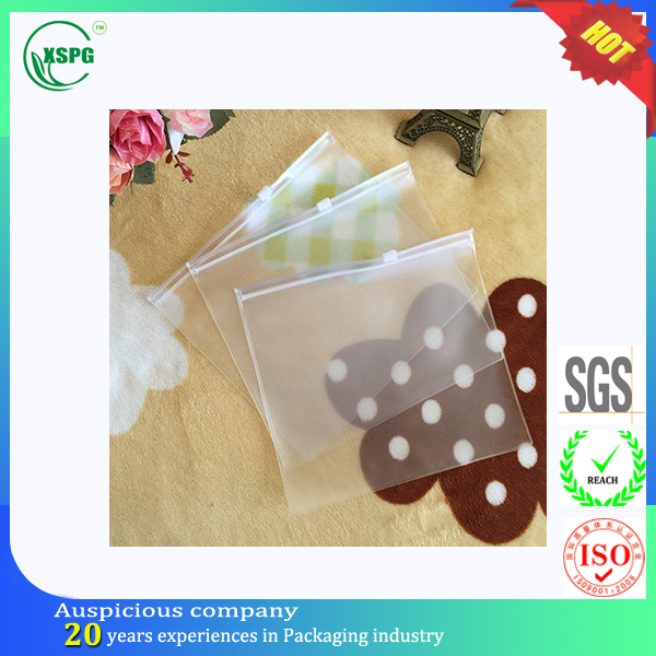 Clear PVC cosmetic packaging zipper pvc bag