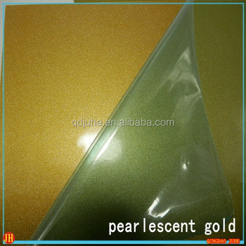 Blank heat transfer sublimation Aluminum sheet, pearlescent surface plate gold color