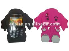 Elephant Design 3D Silicone Case For BlackBerry 8520 Curve