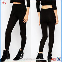 2015 Black viscose high waist hot sale cheap women sexy tight legging pants