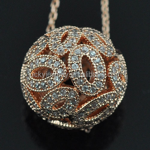 Micro Czech Glass Pave Beads For Necklace