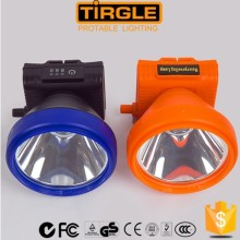 Tirgle big power battery powered led headlight with battery meter