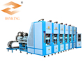 Shoes injection machine for making EVA slipper