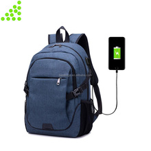 2017 Quanzhou business USB charging laptop backpack men fashion multi-function travel bag