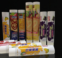 Aluminum barrier laminated toothpaste package tube with beautiful decoration
