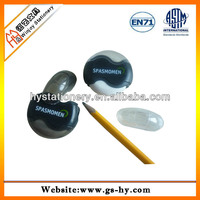 Round pencil sharpener with eraser