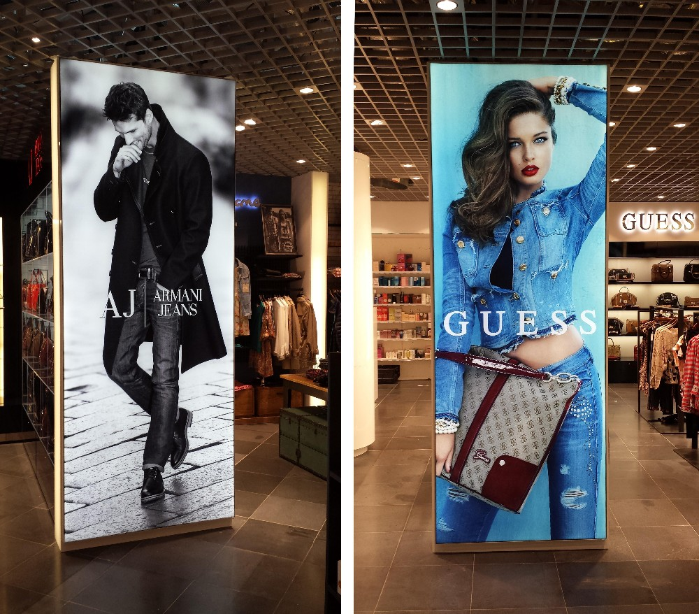 AF18 fabric light box advertising textile front surface poster frame display