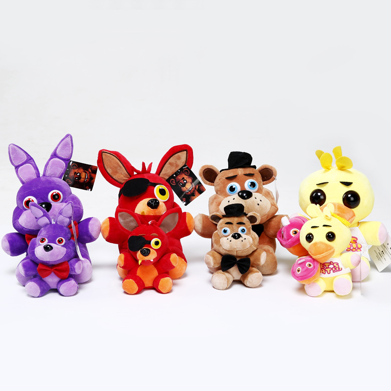 Wholesale best selling FNAF fox bear bonnie toys five nights at freddy's plush toys for keychain dolls