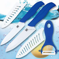 XYj Logo Brand Ceramic Knife And Peeler Sets 3 Pcs Ceramic Knife Sets White Ceramic Blade Kitchen Knife Sets