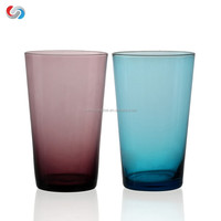 Beautiful Stemless Handmade Cheap Colorful Glass Cup Good For Gift