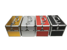 Colorful two door-open aluminum cosmetic makeup beauty case