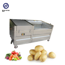 Automatic ginger washer and peeler garlic peeler machine cassava wash and peel machine