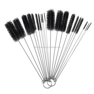 small bottle brush/bottle brushes for cleaning wine bottles/small wire brush