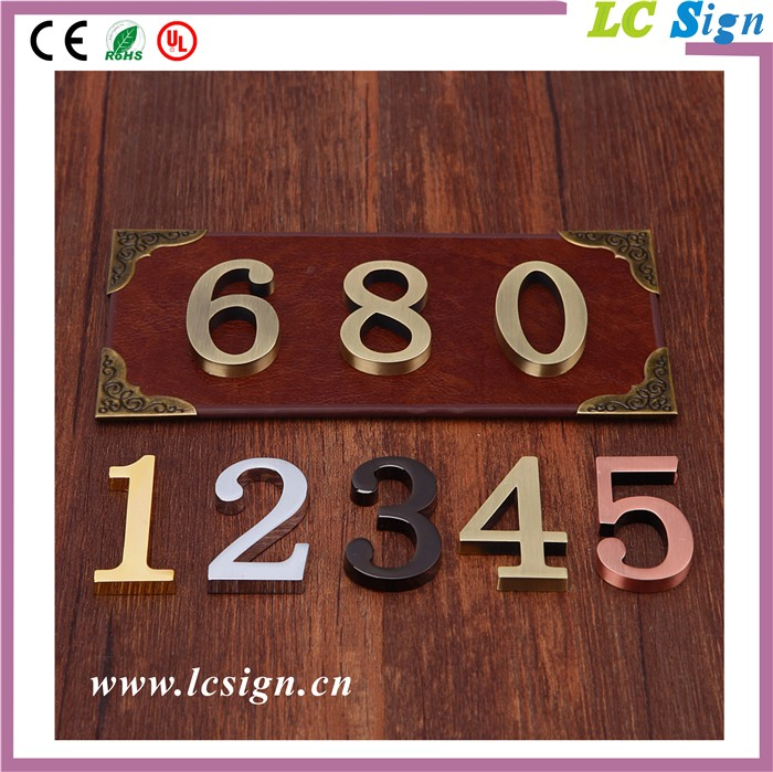 House Number Alphabet Sign Custom Brass Laser Cut 3d
