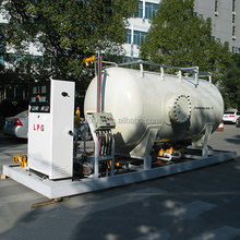 Trust best quality 20years manufacture 10CBM skid-mounted LPG gas container filling station