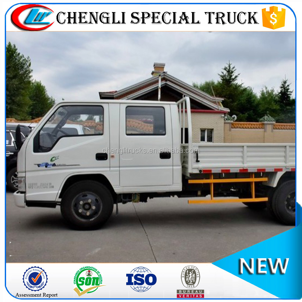 China Pickup truck Dual Row JMC Truck 4x2 Mini Light Duty 2 ton 3 ton for Sale