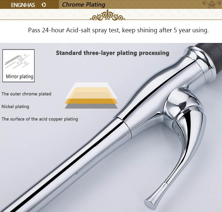 Innovative brass bathroom water saver faucet