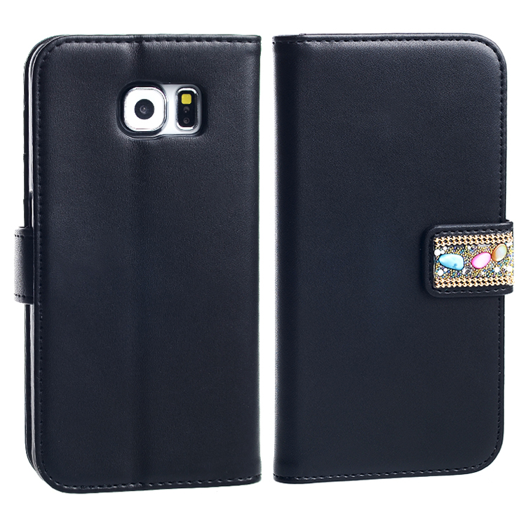 Mobile Phone PU Leather Wallet Case for Samsung Galaxy S6