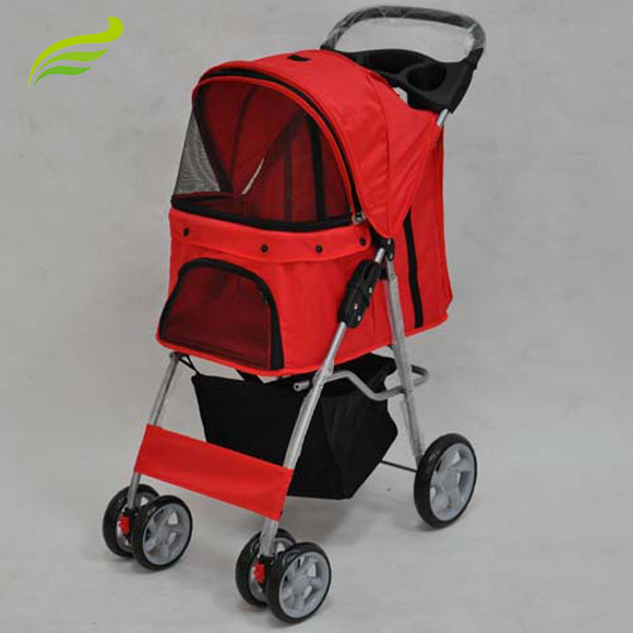 4 wheels Foldable Carrier Strolling Cart Pet Trolley
