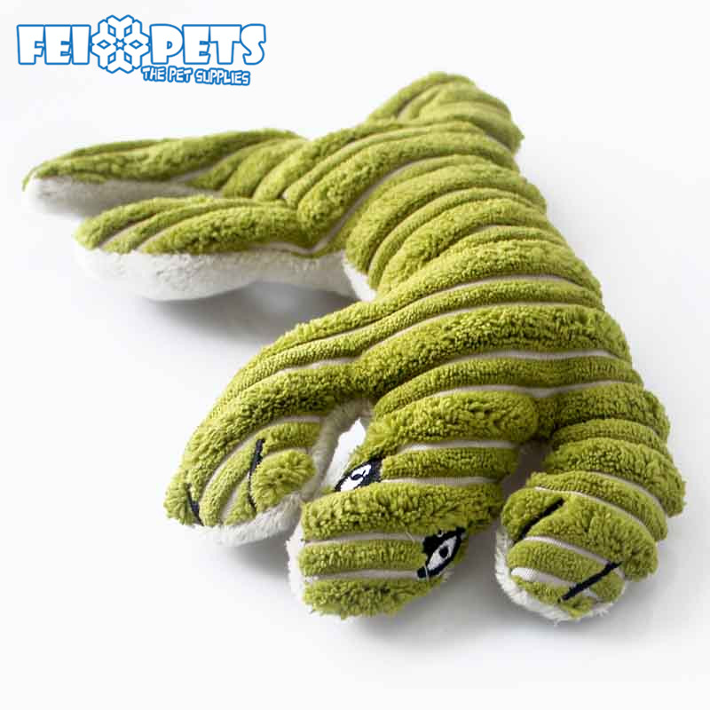 2017 new pet toys lizard shaped plush toy animals for cat and dog
