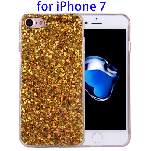 Hot Sales Twinkling TPU Bling Bling Case for iPhone 7 with 43cm Sling