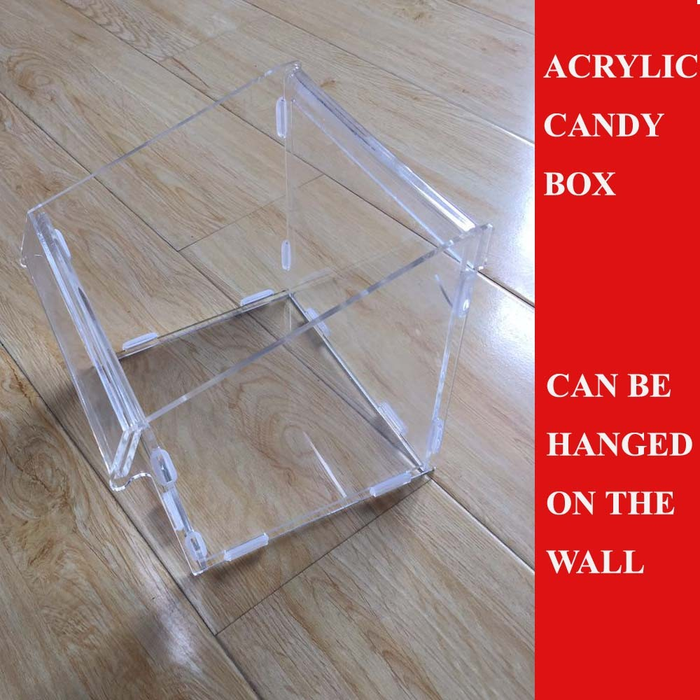 2017 Dismantled slatwall acrylic candy box clear acrylic box
