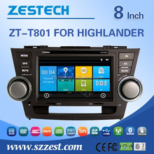 Digital car media player for Toyota Highlander 2013/2012 autoradio head units,car navigation,mp3 mp4 player