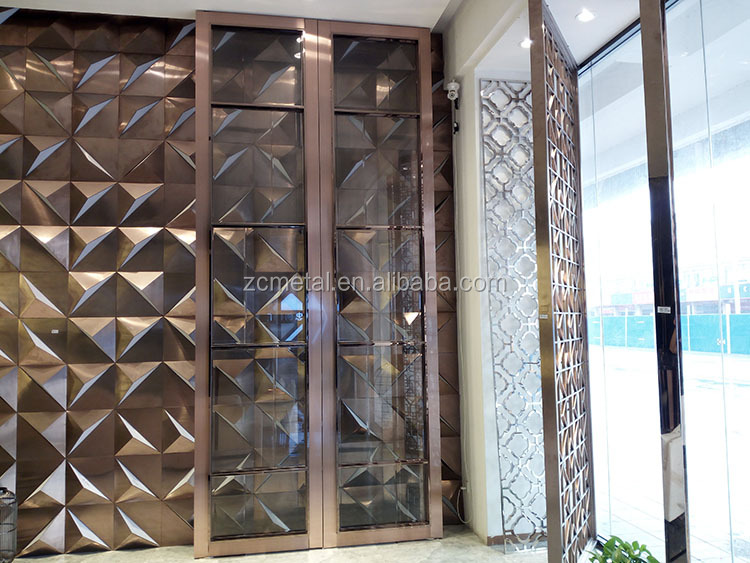2016 new design stainless steel doors