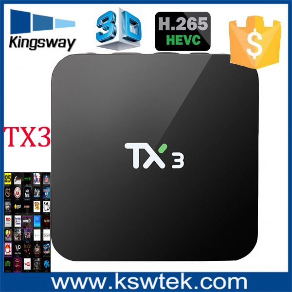 2016 set top tv box s905 tx3 android 5.1 smart tv box Support IPtv,Youtube, google Play store