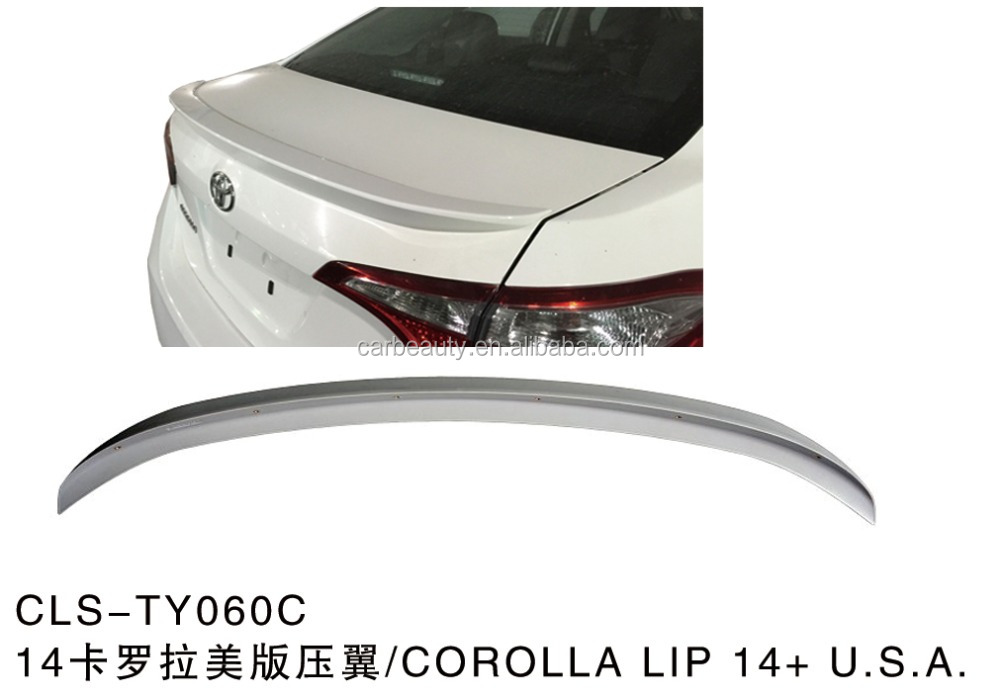 TY060C car rear lip spoiler for TOYOTA COROLLA <strong>14</strong>+ <strong>U</strong>.S.A