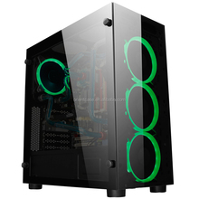 Factory Supply RGB fan &Tempered Glass bezel ATX Gaming Desktop Computer Case
