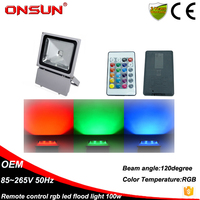 Flood Lights Item Type and LED Light Source 100w remote control color changing outdoor rgb led flood light
